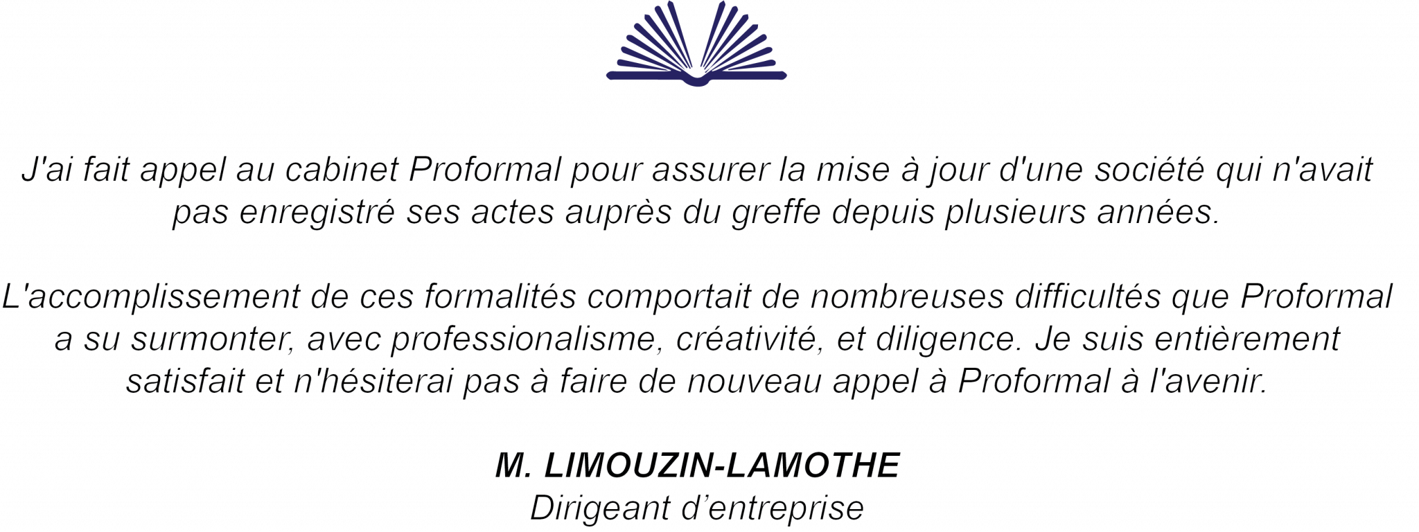 témoignage de m. Limouzin-Lamothe