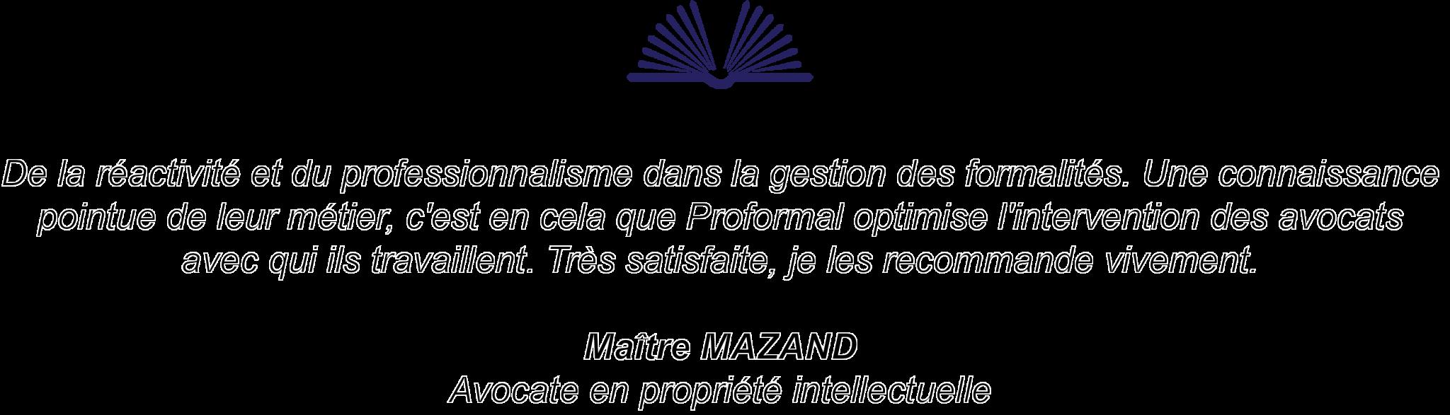 témoignage de maître Mazand